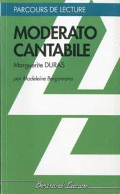 Moderato cantabile, de Marguerite Duras - Couverture - Format classique