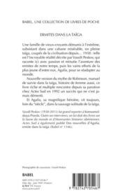 Ermites dans la taïga - 4ème de couverture - Format classique