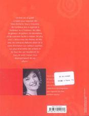 Fêtes d'enfants ; de 1 à 12ans - 4ème de couverture - Format classique