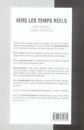 Vers Les Temps Reels - 4ème de couverture - Format classique