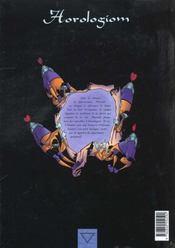 Horologiom t.5 ; le grand rouage - 4ème de couverture - Format classique