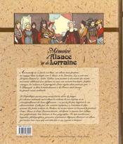 Memoire D'Alsace Et De Lorraine - 4ème de couverture - Format classique