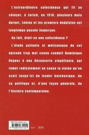 Lénine Dada - 4ème de couverture - Format classique