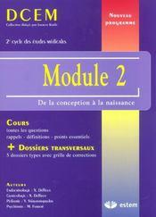 Module 2 ; de la conception à la naissance - Intérieur - Format classique