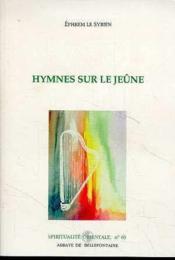 Hymnes sur le jeûne - Couverture - Format classique