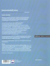 MONUMENTAL ; dossier Versailles (édition 2005) - 4ème de couverture - Format classique