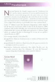 Fiscalite, placements et reductions d'impot 2006 - 4ème de couverture - Format classique