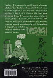 Usagi yojimbo t.11 - 4ème de couverture - Format classique