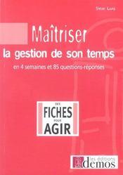 Maitriser La Gestion De Son Temps - Intérieur - Format classique