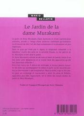 Le Jardin De La Dame Murakami - 4ème de couverture - Format classique