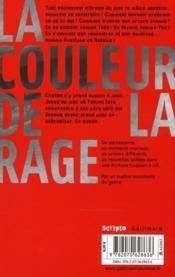 La couleur de la rage ; autres histoires - 4ème de couverture - Format classique