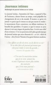 Journaux intimes de Madame de Staël à Pierre Loti - Couverture - Format classique