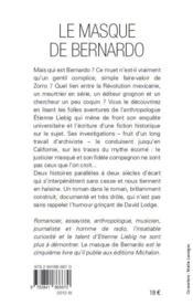 Le masque de Bernardo - 4ème de couverture - Format classique