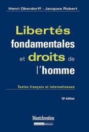 Libertés fondamentales et droits de l'homme (10e édition) - Couverture - Format classique