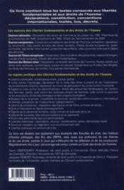 Libertés fondamentales et droits de l'homme (10e édition) - 4ème de couverture - Format classique