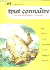Tout Connaitre N° 64 Du 31 Decembre 1957. Moby Dick. - Couverture - Format classique