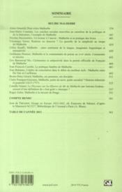 REVUE XVIIIE SIECLE N.260 ; relire Malherbe - 4ème de couverture - Format classique