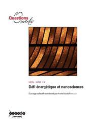 Defi energetique et nanosciences - Couverture - Format classique