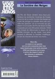 La sorcière des neiges - 4ème de couverture - Format classique