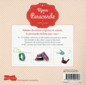 Bijoux en paracorde - 4ème de couverture - Format classique