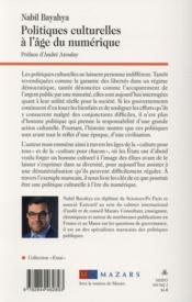 Politiques culturelles à l'âge du numérique ; l'exemple du Maroc - 4ème de couverture - Format classique