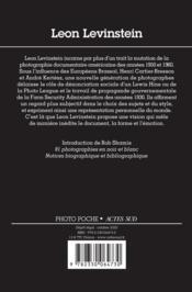 Leon Levinstein - 4ème de couverture - Format classique