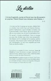 La dictée ; une histoire française - 4ème de couverture - Format classique