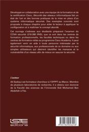 Sécurité des réseaux informatiques - 4ème de couverture - Format classique