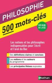 50 mots-clés ; philosophie (édition 2020) - Couverture - Format classique
