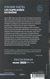 Les suppliciées du Rhône - 4ème de couverture - Format classique