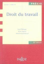 Droit Du Travail (23e Edition - Intérieur - Format classique