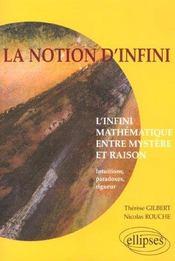 La Notion D'Infini L'Infini Mathematique Entre Mystere Et Raison Intuitions Paradoxes Rigueur - Intérieur - Format classique