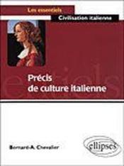 Precis De Culture Italienne - Couverture - Format classique