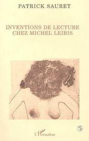 Inventions De Lecture Chez Michel Leiris - Intérieur - Format classique