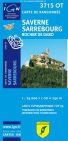 Saverne ; Sarrebourg ; 3715 OT - Couverture - Format classique