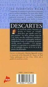 Rene descartes - 4ème de couverture - Format classique