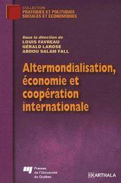 Altermondialisation, économie et coopération internationale - Couverture - Format classique