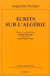 Ecrits sur l'algerie - Intérieur - Format classique