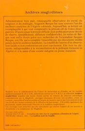 Ecrits sur l'algerie - 4ème de couverture - Format classique