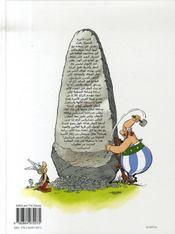 Asterix chez Rahazade - 4ème de couverture - Format classique