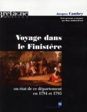 Voyage dans le Finistère ; ou état de ce département en 1794 et 1795 - Couverture - Format classique