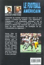 Le Football Americain - 4ème de couverture - Format classique
