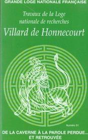 Cahiers villard de honnecourt t.51 ; de la caverne a la parole perdue et retrouvee - Intérieur - Format classique