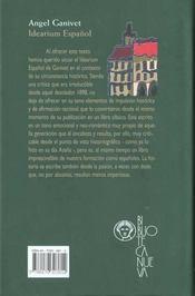 Idearium Espanol - 4ème de couverture - Format classique
