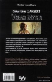 Vegas mytho - 4ème de couverture - Format classique