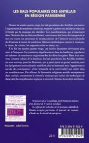 Les bals populaires des antillais en région parisienne - 4ème de couverture - Format classique