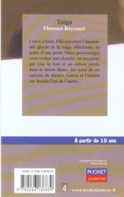 Taïga - 4ème de couverture - Format classique