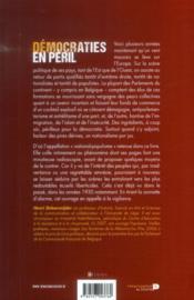 Démocraties en péril - 4ème de couverture - Format classique