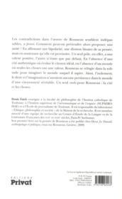 Jean-Jacques Rousseau ; la cité et les choses - 4ème de couverture - Format classique