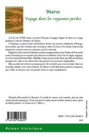 Maroc ; voyage dans les royaumes perdus - 4ème de couverture - Format classique